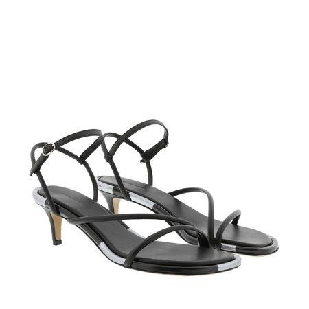 Isabel Marant  Sandalen  -  Apica Sandals Leather Black  - in schwarz  -  Sandalen für Damen grau
