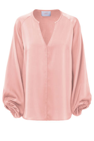 IVI collection SOLID SILK Bluse rose rot