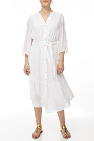 IVI collection SOLID VISCOSE Dress white