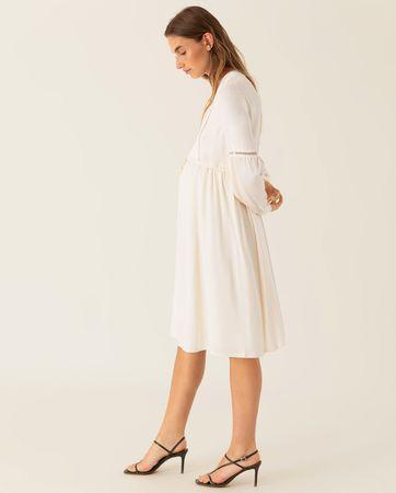 IVY & OAK  Blusenkleid mit voluminösen Ärmeln Damen beige