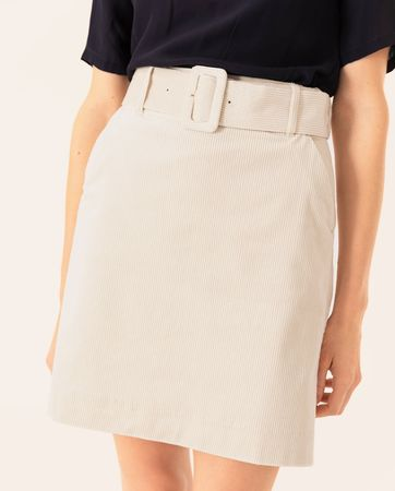 IVY & OAK  Mini Kordrock mit Gürtel Damen braun