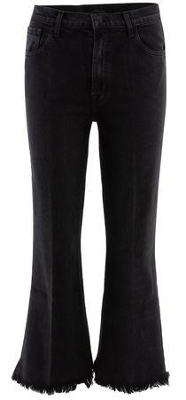 J Brand  - Jeans Julia High Rise aus Baumwollgemisch schwarz