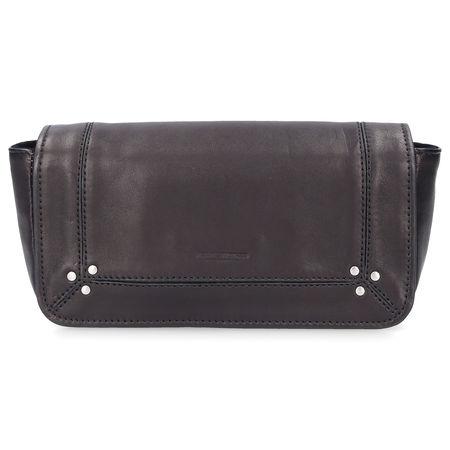 Jerome Dreyfuss  Handtasche BOB Kalbsleder Logo nieten schwarz grau