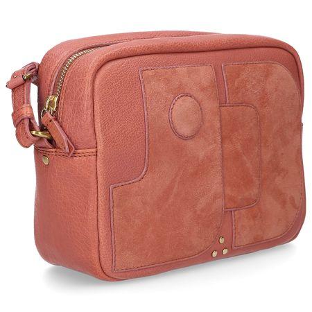 Jerome Dreyfuss  Handtasche DOMINIQUE Kalbsleder Logo altrosa rot