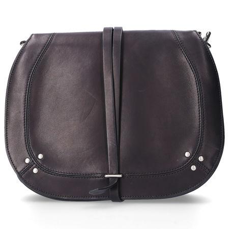 Jerome Dreyfuss  Handtasche NESTOR Kalbsleder Logo nieten schwarz grau