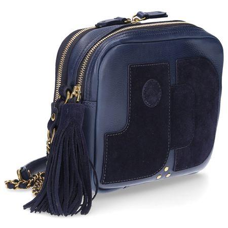 Jerome Dreyfuss  Handtasche PASCAL Veloursleder blau grau