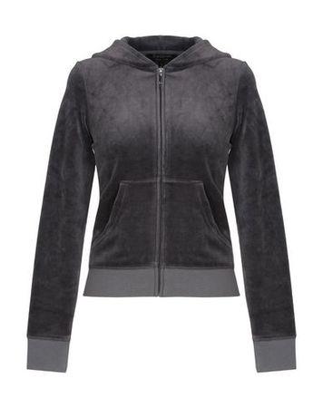 Juicy Couture  Damen Granitgrau Sweatshirt Baumwolle, Polyester grau