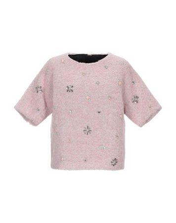 Juicy Couture  Damen Hellrosa Pullover Wolle, Alpakawolle, Polyamid, Mohair braun