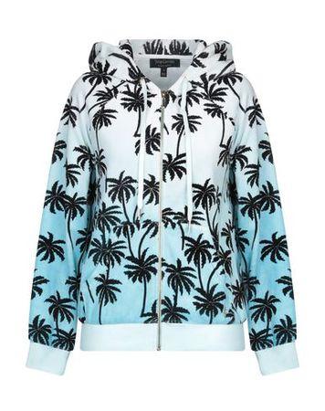 Juicy Couture  Damen Himmelblau Sweatshirt Baumwolle, Polyester