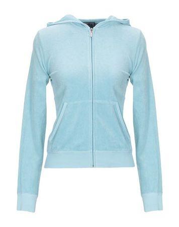 Juicy Couture  Damen Himmelblau Sweatshirt Baumwolle, Polyester grau