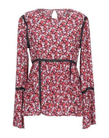 Juicy Couture  Damen Rosa Bluse Viskose braun