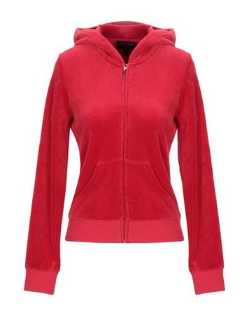 Juicy Couture  Damen Rot Sweatshirt Baumwolle, Polyester rot