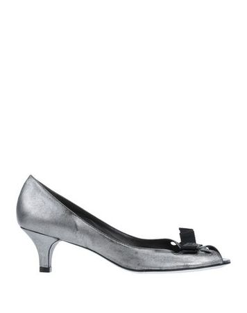 Juicy Couture  Damen Silber Pumps Leder grau