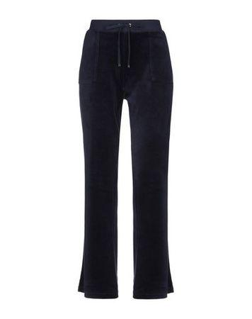Juicy Couture  L Damen Dunkelblau Hose Baumwolle, Polyester schwarz