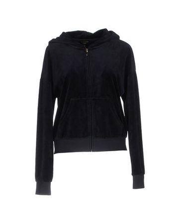 Juicy Couture  L Damen Dunkelblau Sweatshirt Baumwolle, Polyester schwarz
