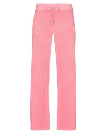 Juicy Couture  L Damen Rosa Hose Baumwolle, Polyester rot