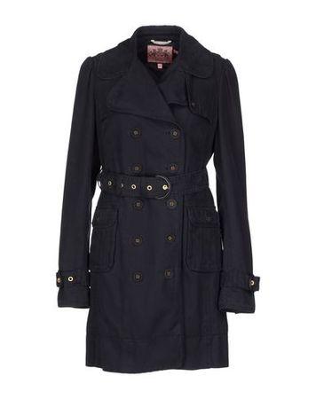 Juicy Couture  L Damen Schwarz Mittellange Jacke Baumwolle schwarz