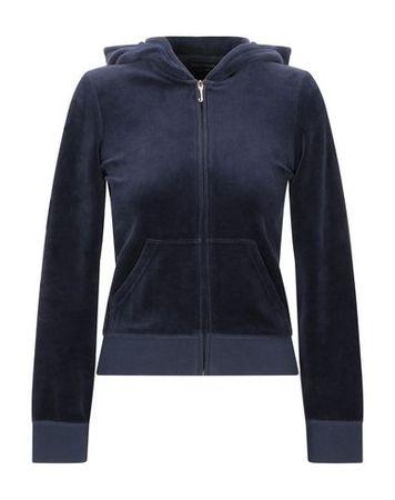 Juicy Couture  S Damen Dunkelblau Sweatshirt Baumwolle, Polyester schwarz