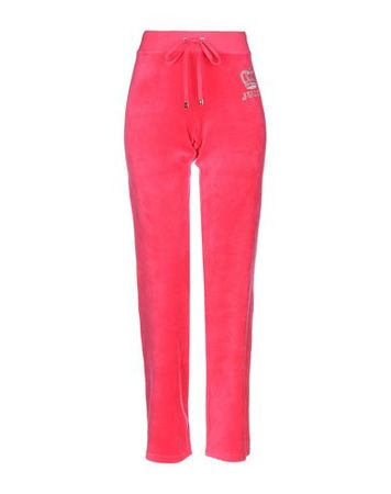 Juicy Couture  S Damen Fuchsia Hose Baumwolle, Polyester pink