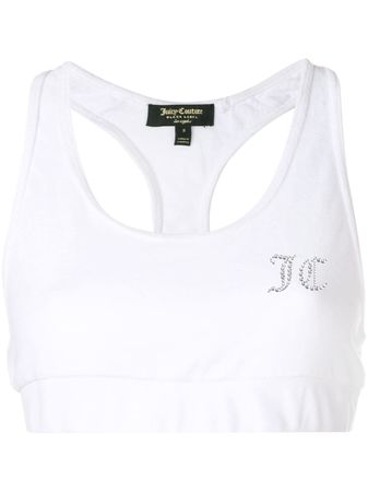 Juicy Couture  Swarovski Personalisable velour crop top - Weiß lila