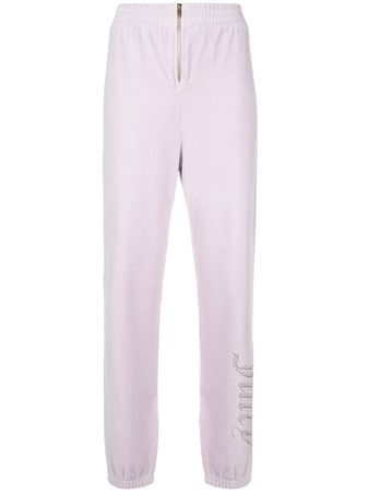 Juicy Couture  Swarovski personalisable velour track pants - Rosa lila