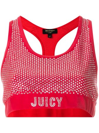 Juicy Couture  Verziertes Cropped-Top - Rot rot