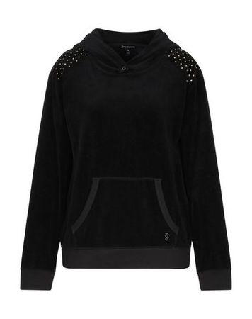 Juicy Couture  XL Damen Schwarz Sweatshirt Baumwolle, Polyester schwarz