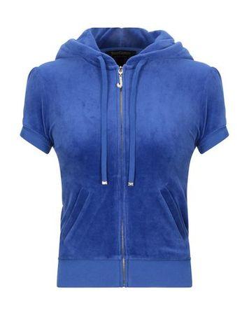 Juicy Couture  XS Damen Blau Sweatshirt Baumwolle, Polyester blau