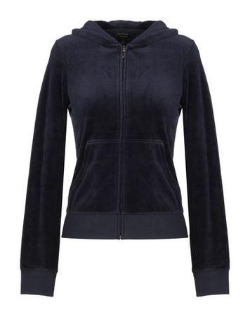 Juicy Couture  XS Damen Dunkelblau Sweatshirt Baumwolle, Polyester schwarz