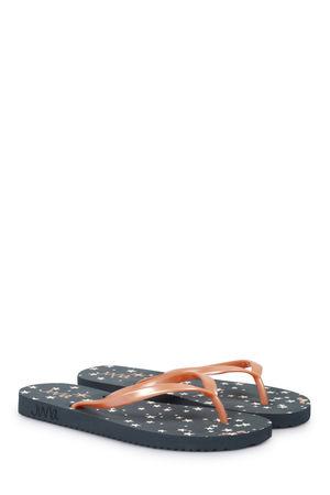 Juvia  Flip-Flops mit Sternen-Print Grafit Damen Farbe: anthrazit verfügbare Größe: 38|39 grau
