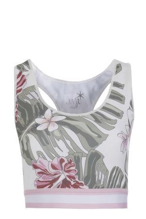 Juvia  Sports Bra mit floralem Print Multicolor Damen Farbe: bunt gemustert verfügbare Größe: XS L grau