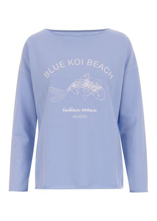 Juvia Sweater aus Baumwoll-Mix in Blau