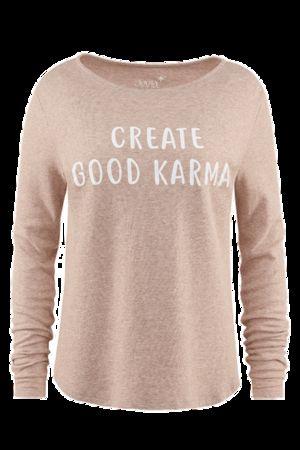 """Juvia  Sweatshirt aus Cashmix """"create good karma"""" von , Bast Damen"""