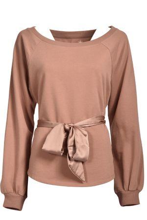 Juvia  Sweatshirt mit Schleife, Schoko Damen