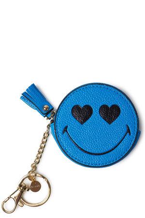 Kalaika  Schlüsselanhänger Smiley In Love Coin Purse Mittelblau Damen Farbe: mittelblau verfügbare Größe: One Size blau