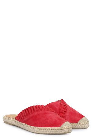 Kanna  Slipper Dyna aus Veloursleder mit Rüsche Rot Damen Farbe: rot verfügbare Größe: 37 rot