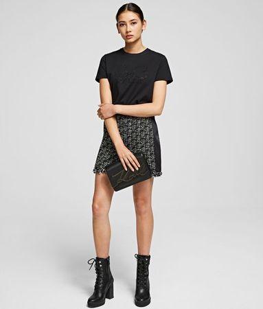 Karl Lagerfeld Bouclé-Shorts Karl x Olivia grau