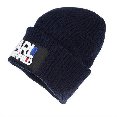 Karl Lagerfeld  Caps  -  Karl Bauhaus Beanie Navy  - in marine  -  Caps für Damen schwarz