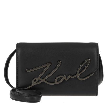 Karl Lagerfeld  Gürteltasche  -  Karl Signature Belt Bag Black  - in schwarz  -  Gürteltasche für Damen schwarz