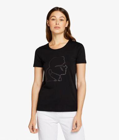 Karl Lagerfeld Ikonik Karl-T-Shirt mit Blitz weiss