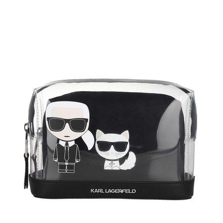 Karl Lagerfeld  Necessaire  -  Ikonik Transparent Pouch Transparent  - in schwarz  -  Necessaire für Damen schwarz