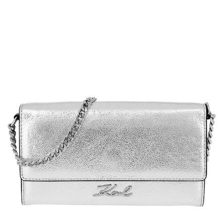 Karl Lagerfeld  Pochette  -  Signature Met Wallet Chain Silver  - in silber  -  Pochette für Damen grau