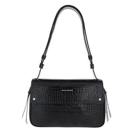 Karl Lagerfeld  Satchel Bag - Ikonic Croco Shoulder Bag - in schwarz - für Damen schwarz