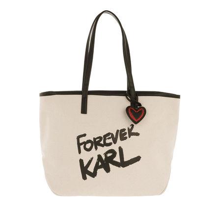 Karl Lagerfeld  Shopper  -  Forever Canvas Shopping Bag Natural  - in beige  -  Shopper für Damen