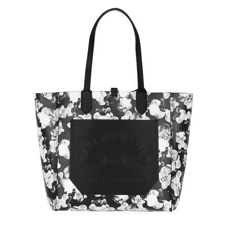 Karl Lagerfeld  Shopper  -  Journey Tote Orchid Print  - in schwarz  -  Shopper für Damen schwarz