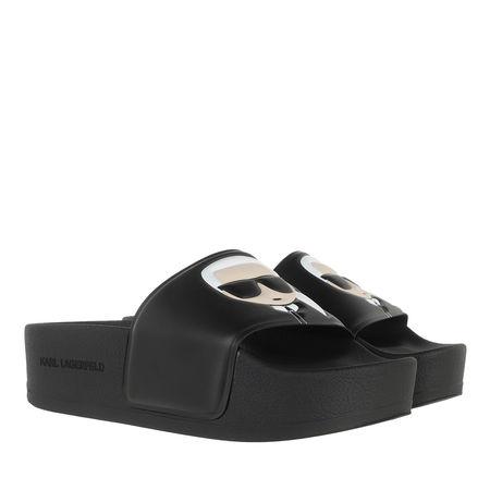 Karl Lagerfeld  Slipper & Pantoletten - KONDO MAXI Ikonic Platform Slide - in schwarz - für Damen