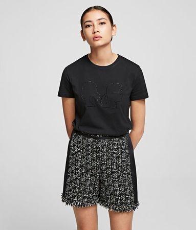 Karl Lagerfeld T-Shirt mit Silhouette Karl x Olivia grau