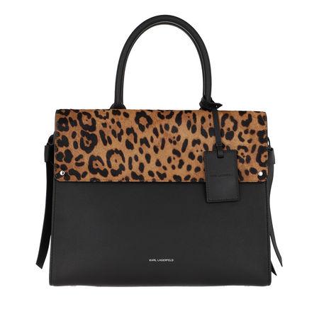 Karl Lagerfeld  Tote  -  Ikon Leopard Top Handle Bag Leopard  - in bunt  -  Tote für Damen schwarz