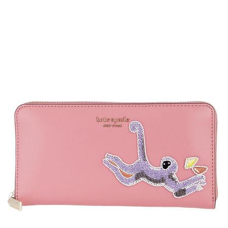 Kate Spade  New York Portemonnaie  -  Safari Zip Around Continental Wallet Rococo Pink  - in rosa  -  Portemonnaie für Damen rot