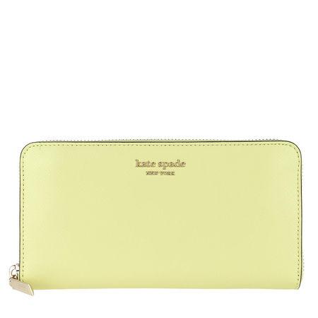 Kate Spade  New York Portemonnaie  -  Spencer Zip Around Continental Wallet Lemon Sorbet  - in gelb  -  Portemonnaie für Damen gruen